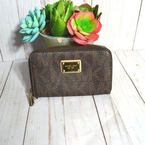Michael Kors Leather Zip Around Wallet